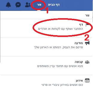 הרמת דף עסקי בפייסבוק מדריך שיווק בפייסבוק פרסום בפייסבוק שיווק ברשתות חברתיות
