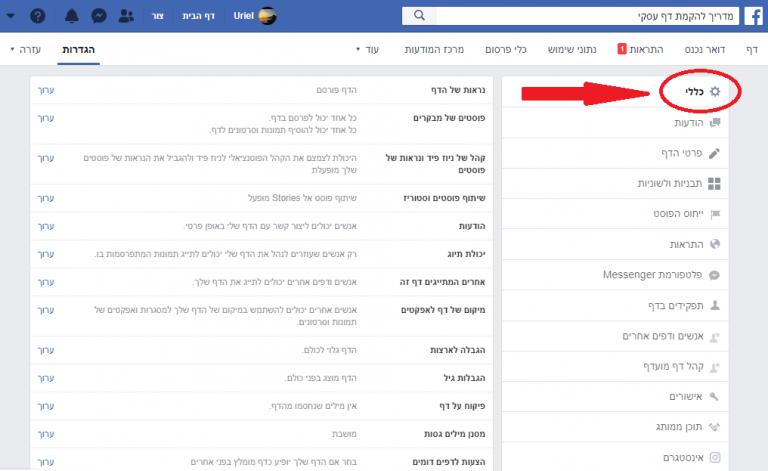 פרסום בפייסבוק פתיחת דף עסקי בפייסבוק העלאת תמונת פרופיל העלאת פוסטים